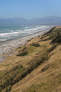 Te Waewae Bay at McCracken's Rest, Western Southland, with the Humpridge Mountains behind