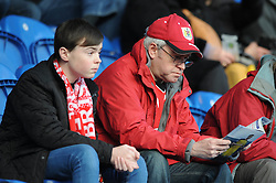 Bristol City fans - Photo mandatory by-line: Dougie Allward/JMP - Mobile: 07966 386802 - 21/02/2015 - SPORT - Football - Colchester - Colchester Community Stadium - Colchester United v Bristol City - Sky Bet League One