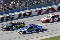 October 14, 2018 - Talladega, Alabama, United States of America - Alex Bowman (88) battles for position during the 1000Bulbs.com 500 at Talladega Superspeedway in Talladega, Alabama. (Credit Image: © Justin R. Noe Asp Inc/ASP via ZUMA Wire)