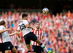 DUBLIN, REPUBLIC OF IRELAND - Saturday, August 5, 2017: Liverpool's Dominic Solanke scores the third goal during a preseason friendly match between Athletic Club Bilbao and Liverpool at the Aviva Stadium. (Pic by David Rawcliffe/Propaganda)