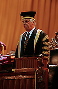 Hong Kong Governor Chris Patten conferring honorary degrees at Hong Kong University.