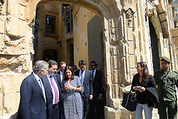 "Paris Mayor Anne Hidalgo seen during visit to ""Beit Beirut"" foundation and museum, also known as ""La Maison jaune"" or ""The Yellow House"", in Beirut, Lebanon, on September 29, 2016. ""Beit Beirut"" is a project that is helped and funded by Paris City to keep a place for the memory of Beirut and of Lebanon's civil war (1975-1990) in this building once located on the ""green line"" that used to separate the city in two parts. Photo by Balkis Press/ABACAPRESS.COM"