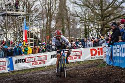 Sascha WEBER (44,GER), 7th lap at Men UCI CX World Championships - Hoogerheide, The Netherlands - 2nd February 2014 - Photo by Pim Nijland / Peloton Photos