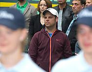 Roger Federer Trainer Severin Luethi  , <br /> Endspiel, Final, Siegerehrung,Pr&auml;sentation,<br /> <br /> Tennis - Gerry Weber Open - ATP 500 -  Gerry Weber Stadion - Halle / Westf. - Nordrhein Westfalen - Germany  - 21 June 2015. <br /> &copy; Juergen Hasenkopf