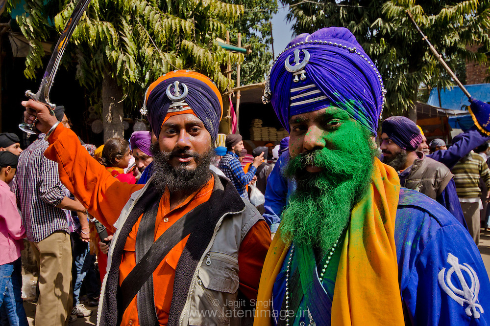 The tradition of spraying colour continued, even as Guru Gobind Singh began using this activity to train his men in the tactics of war.