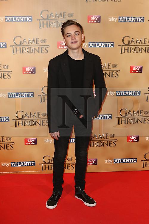 © Licensed to London News Pictures. 18/03/2015, UK. Dean-Charles Chapman (Tommen), Game of Thrones - Series Five World Premiere, Tower of London, London UK, 18 March 2015. Photo credit : Richard Goldschmidt/Piqtured/LNP