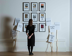 Alanna Brady, Development Manager at RSA with Brexit Tox by Calum Colvin RSA and Robert Crawford RSA at the RSA Open Exhibition of Art. The RSA Annual Exhibition is the most extensive exhibition of contemporary art and architecture in Scotland. The Annual Exhibition has evolved over the years, showcasing Scottish art alongside invited international artists. The exhibition runs from 2 November to 11 December 2019 at the RSA Building, Edinburgh.