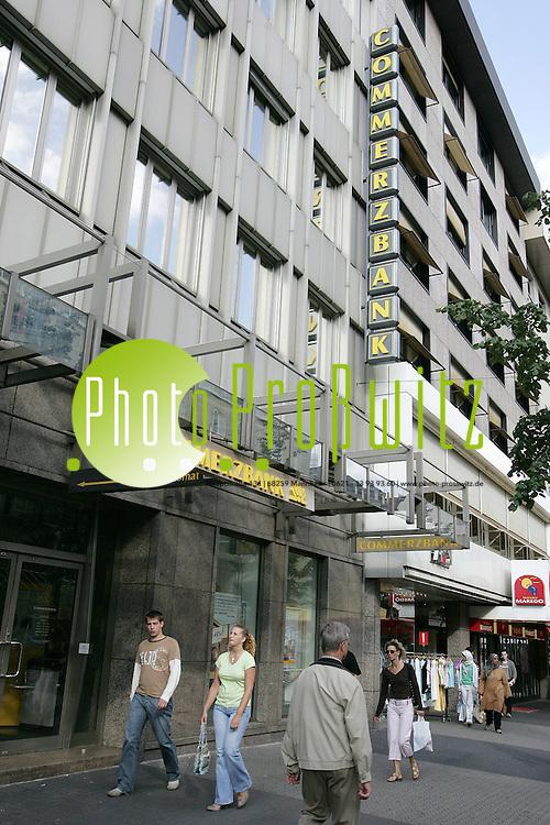 Mannheim. Innenstadt. Planken. Commerzbank<br /> Bild: Markus Pro&szlig;witz <br /> Bilder auch online abrufbar - Neue-/ und Archivbilder. www.masterpress.org