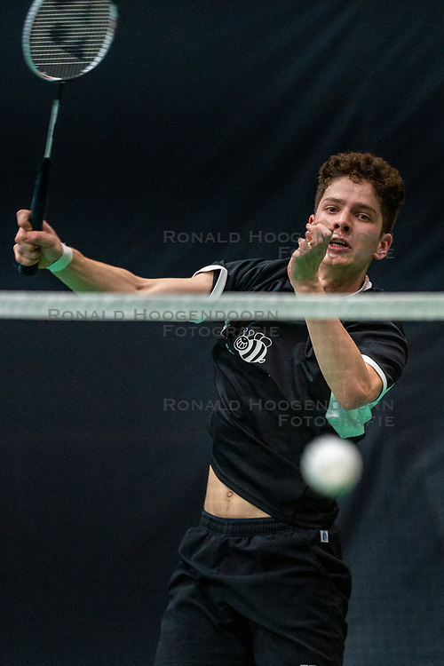 Ties van der Lecq during the Dutch Championships Badminton on February 1, 2020 in Topsporthal Almere, Netherlands