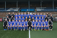 The Forfar Farmington suad for season 2017 pictured at Station Park, Forfar. <br /> <br /> Back row: Jack Stout (Sports Scientist), Bryan Middleton (Lead Performance Analyst), Beth Warwick, Jane Ritchie, Anne Murrie, Kayleigh Noble, Gemma Collier (Vice Captain), Megan McCarthy, Kirsty Deans, Suzie Adam, Alana Bruce, Julia Scott, Emma Cuthill (Sports Therapist), Stewart Cook (U23 Coach)<br /> <br /> Middle row: John Diplexcito (Head of Youth Development), John Dunn (U23 Head Coach), Erin Cattanach, Caitlin Mitchell, Lois Millar, Chantelle McKay, Fiona McNicoll, Hannah Dryden, Lynsey Tugman, Sophie Young, Rebecca McMillan, Mike Gourlay (Goalkeeping Coach), Kev Candy (Goalkeeping Coach)<br /> <br /> Front row: Lee Smith (Media Officer), Leah White, Cheryl Kilcoyne, Laura Parsley, Beth Shillitto, Robyn Smith, Nicola Davidson (Captain), Mark Nisbet (Head Coach), Ellie Cook, Zoe Moreland, Sally Patterson, Chloe Reilly, Alison Debio, Mark Mitchell (Performance Administrator)<br /> <br /> Photo: David Young<br /> <br />  - &copy; David Young - www.davidyoungphoto.co.uk - email: davidyoungphoto@gmail.com