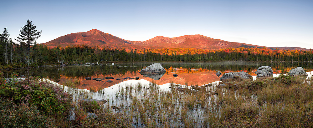 The Southern region of Baxter State Park is a popular destination for hikers, climbers and photographers, and especially in the fall season. This is due to the proximity to Mount Katahdin and the abundant wildlife in this wilderness area.