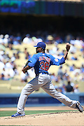 LOS ANGELES, CA - AUGUST 28:  Edwin Jackson #36 of the Chicago Cubs pitches during the game against the Los Angeles Dodgers on Wednesday, August 28, 2013 at Dodger Stadium in Los Angeles, California. The Dodgers won the game in a 4-0 shutout. (Photo by Paul Spinelli/MLB Photos via Getty Images) *** Local Caption *** Edwin Jackson