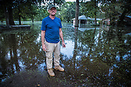 Frank Bonifay on Ridge Road in Ascension Parish on August 26, following the 1000 year flood.