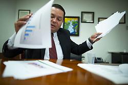 November 20, 2018 - Guaynabo, Puerto Rico - Guaynabo, Noviembre 20, 2018 - PR HOY - FOTOS para ilustrar una historia sobre el alcalde de Guaynabo para hablar del déficit municipal. Las fotos se realizaron en la alcaldía de Guaynabo..FOTO POR:  tonito.zayas@gfrmedia.com.Ramon '' Tonito '' Zayas / GFR Media (Credit Image: © El Nuevo Dias via ZUMA Press)