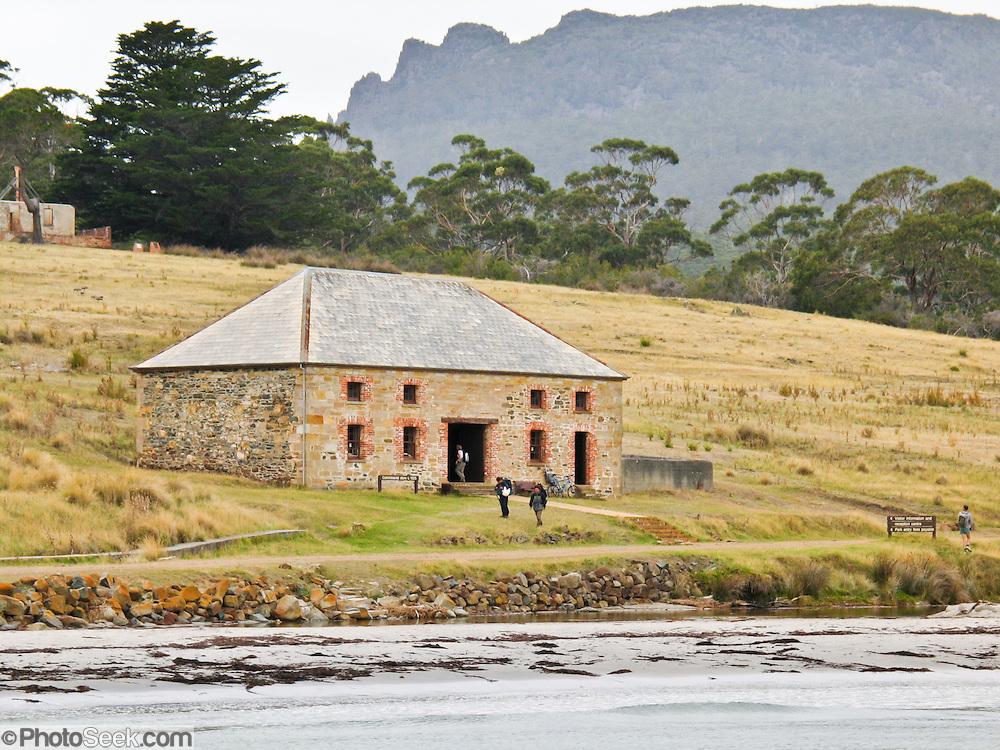 Commissariat Store was built in 1825 as part of a convict village, whose history is preserved at Maria Island National Park, Tasmania, Australia. From 1825 to 1832, Darlington was Tasmania's second penal colony (the first was Sarah Island near Strahan).