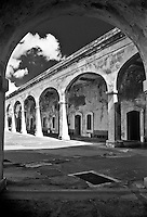 Arched hallways of the antique fort