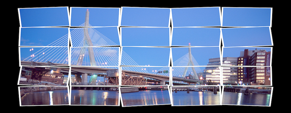 Zakim Bunker Hill Bridge, stylized image