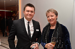 Left to right, JUSTIN BICKLE Chairman of the ENB and CAROLINE THOMSON Executive Director of the ENB at a pre party for the English National Ballet's Christmas performance of The Nutcracker was held at the St.Martin's Lane Hotel, St.Martin's Lane, London on 12th December 2013.