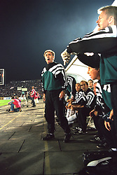 VLADIKAVKAZ, RUSSIA - Tuesday, September 12, 1995: Liverpool's assistant manager Doug Livermore on the bench against FC Alania Spartak Vladikavkaz during the UEFA Cup 1st Round 1st Leg match at Republican Spartak Stadium. (Photo by David Rawcliffe/Propaganda)