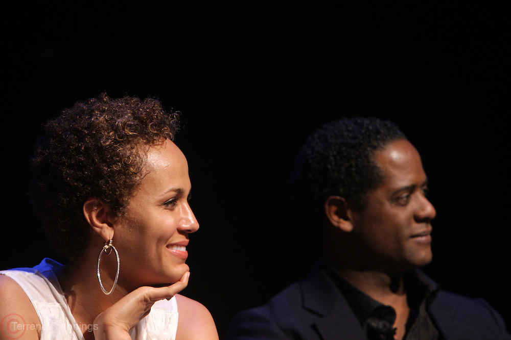 May 7, 2012- New York, NY United States: - (L-R) Actress Nicole Ari Parker and Actor Blair Underwood attend Theater Talks at the Schomburg: A Streetcar Named Desire held at the Schomburg Center for Research in Black Culture, part of the New York Public Library on May 7, 2012 in Harlem Village, New York City. The Schomburg Center for Research in Black Culture, a research unit of The New York Public Library, is generally recognized as one of the leading institutions of its kind in the world. For over 80 years the Center has collected, preserved, and provided access to materials documenting black life, and promoted the study and interpretation of the history and culture of peoples of African descent.  (Photo by Terrence Jennings) .
