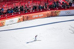 15.02.2014, Rosa Khutor Alpine Resort, Krasnaya Polyana, RUS, Sochi, 2014, Super G, Damen, im Bild Olympiasiegerin Anna Fenninger (AUT) // olympic Champion Anna Fenninger of Austria celebrate in the Finish area during the ladies Super G to the Olympic Winter Games Sochi 2014 at the Rosa Khutor Alpine Resort, Krasnaya Polyana, Russia on 2014/02/15. EXPA Pictures © 2014, PhotoCredit: EXPA/ Johann Groder