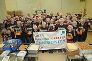 Nicor Inc. employees volunteer with family and friends to pack food rations at Feed My Starving Children in Schaumberg, Illinois on Saturday, May 21st, 2011 during Nicor's 15th Volunteer Day. The company's annual event includes volunteering at outdoor clean ups at local social service agencies, food sorting at area pantries and energy-saving improvements at the homes of senior citizens. For additional information, visit nicor.com or contact Richard Caragol at 630-388-2686.