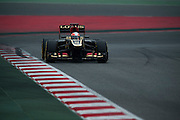 February 21, 2013 - Barcelona Spain. Romain Grosjean, Lotus F1 Team during pre-season testing from Circuit de Catalunya.