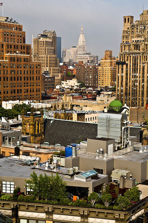 New York. elevated view on Chelsea area and  the Meat packing district  / quartier de  Chelsea , et  le quartier a la mode de meat packing district