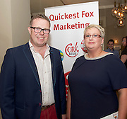 @galwayhour 's Philip Gleeson and Claire O Driscoll at the launch of Quickest Fox Marketing's latest Twitter sensation #galwayhour took place at the the Gaslight Bar & Brasserie at Hotel Meyrick.  Photo:Andrew Downes.
