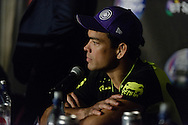 "MANCHESTER, ENGLAND, NOVEMBER 26, 2013: Lyoto Machida is pictured at the post-fight press conference for ""UFC Fight Night 30: Machida vs. Munoz"" inside Phones4U Arena in Manchester, England (© Martin McNeil)"