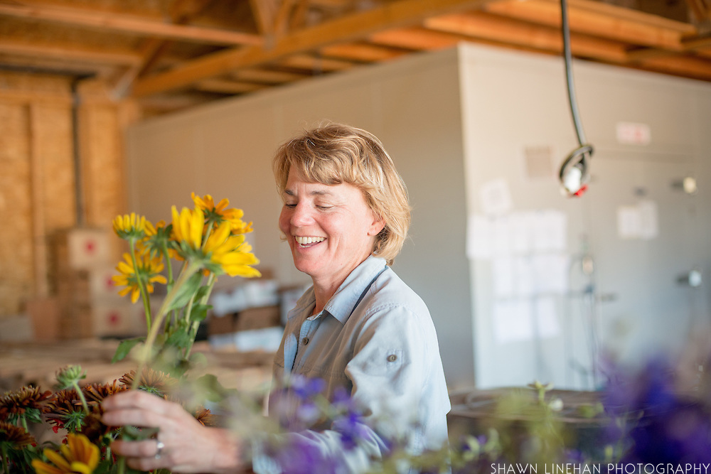 Karen grows organic flowers at Our Table Cooperative