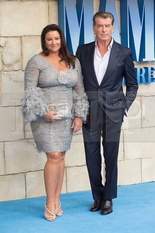 © Licensed to London News Pictures. 16/07/2018. London, UK. Pierce Brosnan and wife Keely Shaye Smith attends the Mamma Mia! Here We Go Again World Film Premiere at Eventime Apollo Hammersmith. Photo credit: Ray Tang/LNP