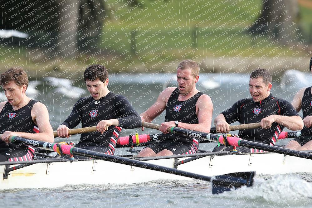 2012.02.25 Reading University Head 2012. The River Thames. Division 1. Thames Rowing Club B IM3 8+