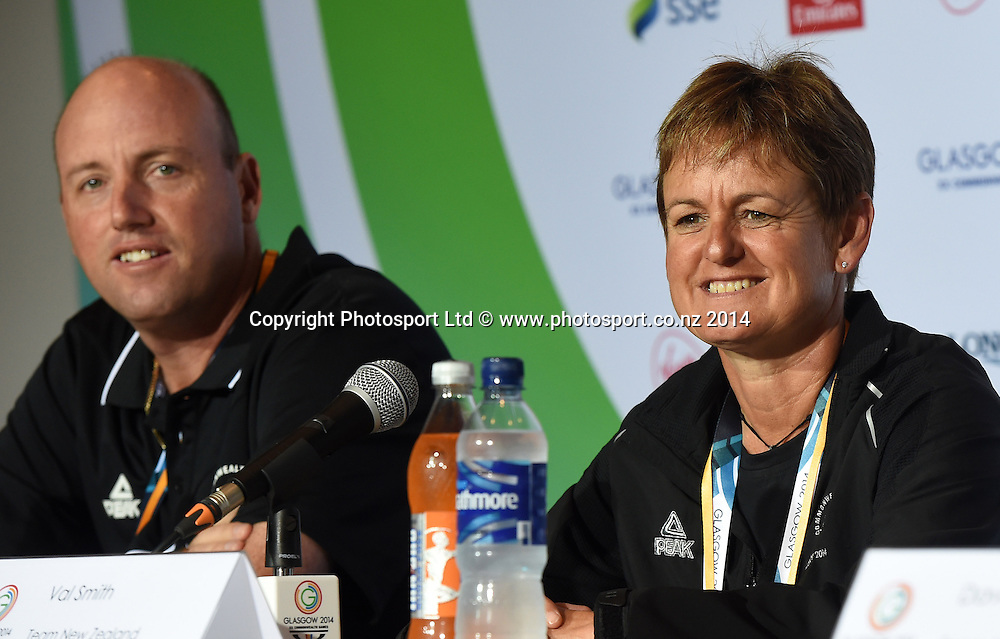 Val Smith during a Bowls press conference at the Main Press Centre. Glasgow Commonwealth Games 2014. Scotland. Wednesday 23 July 2014. Photo: Andrew Cornaga/www.Photosport.co.nz