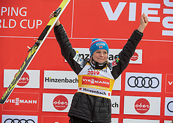 03.02.2019, Energie AG Skisprung Arena, Hinzenbach, AUT, FIS Weltcup Ski Sprung, Damen, Siegerehrung, im Bild Maren Lundby (NOR) // Maren Lundby (NOR) during the winner Ceremony of woman's FIS Ski Jumping World Cup at the Energie AG Skisprung Arena in Hinzenbach, Austria on 2019/02/03. EXPA Pictures © 2019, PhotoCredit: EXPA/ Reinhard Eisenbauer