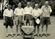 Nuwara Eliya Golf Club.<br />From left of the picture<br /> Shelton Gunasekera, R.P.C.Adams, R.I.H. Scott, J.B.McLachlan, C.M.G.Moberly.