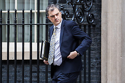 London, UK. 29th January, 2019. Julian Smith MP, Chief Whip, leaves 10 Downing Street following a Cabinet meeting on the day of votes in the House of Commons on amendments to Prime Minister Theresa May's final Brexit withdrawal agreement which could determine the content of the next stage of negotiations with the European Union.