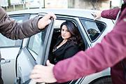 21 Novembre 2017, Casal di Principe Italia - Marilena Natale, giornalista anticamorra sotto scorta.