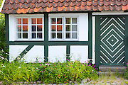 Quaint cottage terracotta rooftiles in Troense, Tasinge Island off Svendborg, of South Funen Archipelago, Denmark
