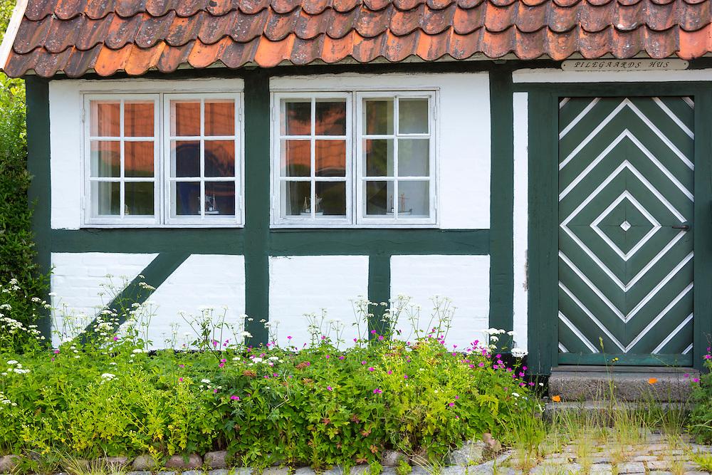 Quaint cottage terracotta rooftiles in Troense, Tasinge Island off Svendborg, of South Funen Archipelago, Denmark