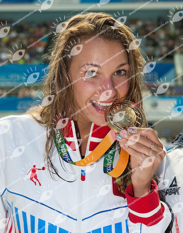 MARTYNOVA Yana Russia RUS<br /> gold medal 400 Individual medley women<br /> 27th Summer Universiade <br /> 5 - 17 July 2013 Kazan Tatarstan Russia<br /> Day 06 Swimming finals<br /> Photo G. Scala/Insidefoto/Deepbluemedia.eu