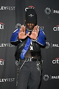 """ASHTON SANDERS attends the Hulu Presentation of """"Wu-Tang: An American Saga"""" at the 2019 PaleyFest Fall TV Previews at the Paley Center for Media in Beverly Hills, California."""