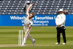 Ivan Thomas of Kent bowls - Photo mandatory by-line: Rogan Thomson/JMP - 07966 386802 - 18/05/2015 - SPORT - CRICKET - Bristol, England - Bristol County Ground - Gloucestershire v Kent - Day 1 - LV= County Championship Division Two.