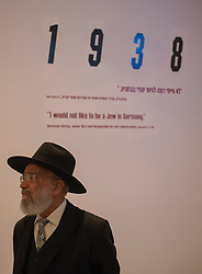 An ultra-orthodox Jewish man visits an exhibition marking the Holocaust Remembrance Day at the Yad Vashem Holocaust Memorial Museum in Jerusalem, on April 16, 2015. From Wednesday sunset to Thursday, Israel officially commemorates the genocide of six million Jews by Nazi Germany during the World War II. EXPA Pictures © 2015, PhotoCredit: EXPA/ Photoshot/ Li Rui<br /> <br /> *****ATTENTION - for AUT, SLO, CRO, SRB, BIH, MAZ only*****