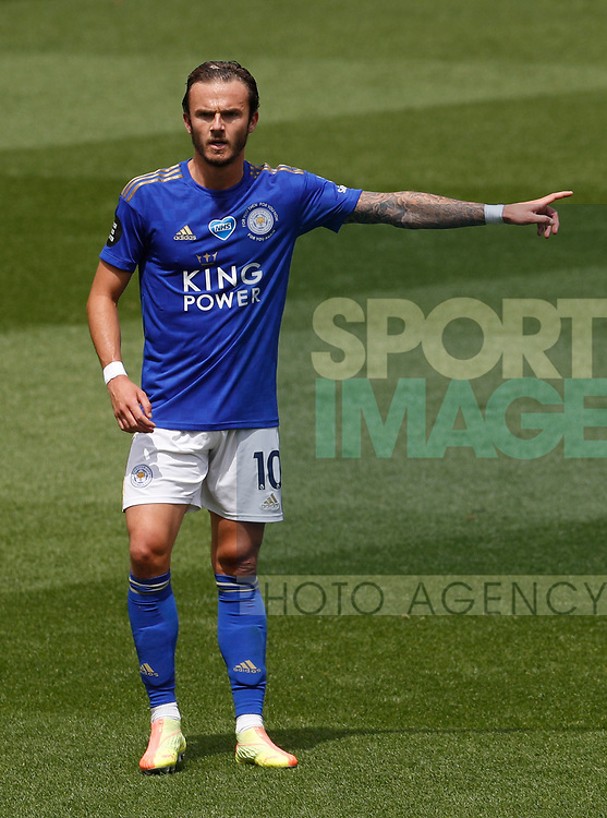 James Maddison of Leicester City during the Premier League match at Vicarage Road, Watford. Picture date: 20th June 2020. Picture credit should read: Darren Staples/Sportimage