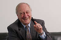 10 MAR 2003, BERLIN/GERMANY:<br /> Heinrich August Winkler, Professor fuer neuste Geschichte an der Humbold-Universitaet Berlin, waehrend einem Interview, Spiegel Redaktionsvertretung<br /> IMAGE: 20030310-01-012<br /> KEYWORDS: Historiker