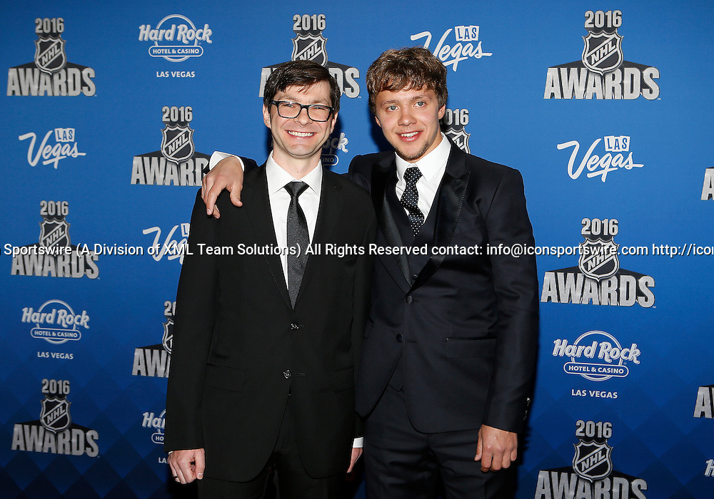 2016 June 22: Chicago Blackhawks player Artemi Panarin poses for a photograph on the red carpet during the 2016 NHL Awards at the Hard Rock Hotel and Casino in Las Vegas, Nevada. (Photo by Marc Sanchez/Icon Sportswire)