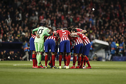 February 20, 2019 - Madrid, Spain - huddle pre-game .   UCL Champions League match between Atletico de Madrid vs Juventus at the Wanda Metropolitano stadium in Madrid, Spain, February 20, 2019  (Credit Image: © Enrique De La Fuente/NurPhoto via ZUMA Press)