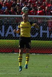 July 22, 2018 - Charlotte, NC, U.S. - CHARLOTTE, NC - JULY 22: Amos Pieper (42) heads the ball during the International Champions Cup soccer match between Liverpool FC and Borussia Dortmund in Charlotte, N.C. on July 22, 2018. (Photo by John Byrum/Icon Sportswire) (Credit Image: © John Byrum/Icon SMI via ZUMA Press)