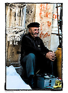 Street-pedlar at the Jaffa flea-market